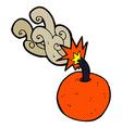 comic cartoon burning bomb vector image vector image