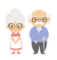 couple elderly with smile face vector image vector image