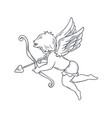 cupid outline vector image