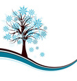 decorative winter tree background vector vector image vector image