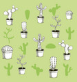 desert plants hand drawn background vector image vector image