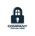 design lock and real estate logo vector image vector image