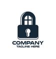 design lock and real estate logo vector image