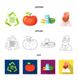 design of and symbol set of and s vector image vector image