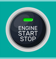 engine start and stop button vector image