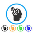 euro businessman intellect rounded icon vector image vector image