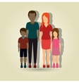 family members design vector image
