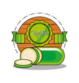 fresh and delicious cucumber vector image vector image