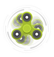 green hand spinner in motion vector image