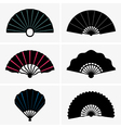 Hand fan vector image