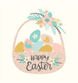 happy easter templates for card poster vector image vector image
