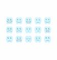 happy teeth set vector image
