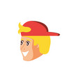 head young man with cap vector image vector image