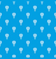 hot air balloon pattern seamless blue vector image