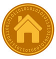 house digital coin vector image vector image