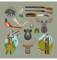 Hunting elements vector image