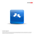 icon socks - 3d blue button vector image vector image