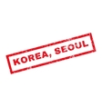 Korea Seoul Rubber Stamp vector image vector image