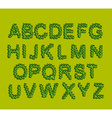 Leaves Font Green letters from the trees leaves vector image vector image