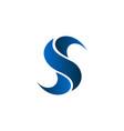 letter s logo technology logo design concept vector image vector image