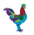 little rooster vector image vector image