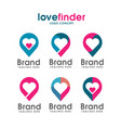 love pin logo vector image
