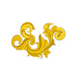luxurious baroque ornament golden floral pattern vector image vector image