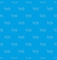 mask pattern seamless blue vector image