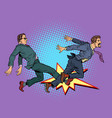 men fight competition vector image vector image