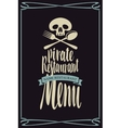 menus for pirate restaurants vector image vector image