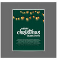 merry christmas decoration lighting green template vector image vector image