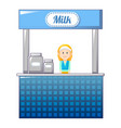milk street shop icon cartoon style vector image