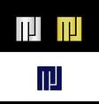 mj logo vector image