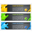 Modern number banners vector image vector image