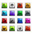 natural disasters icon set vector image