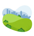 nature landscape empty urban garden city park vector image