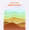 new years resolution in the new year men standing vector image vector image