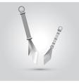 ninja weapon cartoon vector image vector image