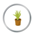 Office plant in th flowerpot icon in cartoon style vector image vector image