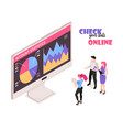 online banking isometric composition vector image vector image