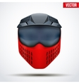 Paintball mask with goggles Original design vector image