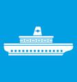 passenger ship icon white vector image vector image
