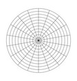 polar grid of 10 concentric circles and 20 degrees vector image vector image