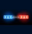 police siren lights beacon flasher policeman car vector image