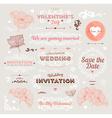 Retro Valentine and Wedding Icon Set vector image