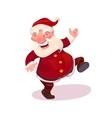Santa dancing vector image