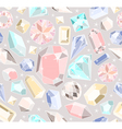 Seamless pastel diamonds pattern vector image