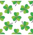 seamless retro pattern shamrock vector image vector image
