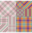 set abstract striped seamless patterns eps 10 vector image