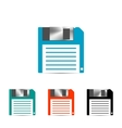 Set of colored floppy icon vector image